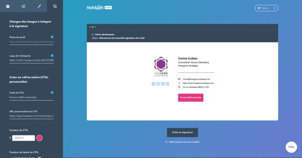 Hubspot - Signature email